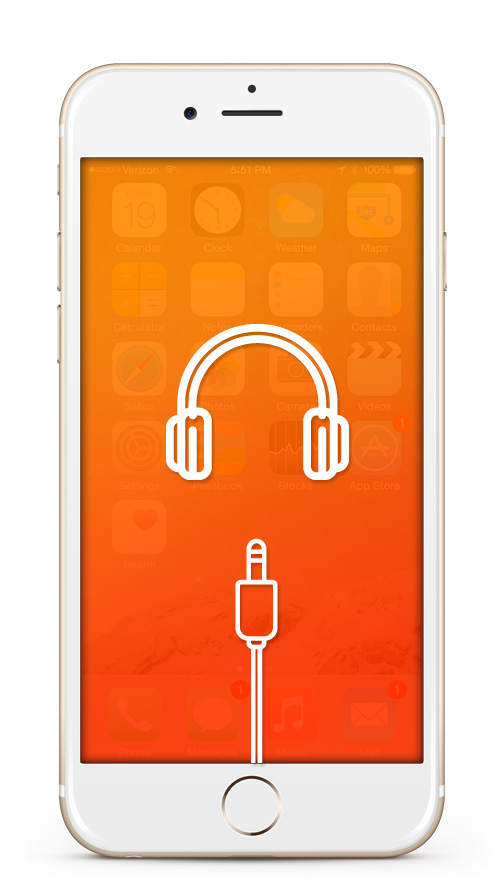 iPhone Kopfhörereingang